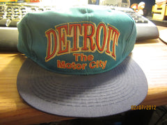 Detroit Michigan The Motor City Vintage Snapback Hat