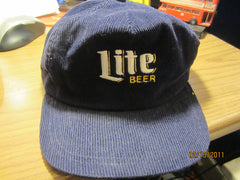 Miller Lite Beer Logo Vintage Corduroy Adjustable Hat