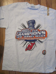New Jersey Devils 2003 Stanley Cup Champions T Shirt Large