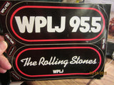 ROLLING STONES 1981 WPLJ New York New Jersey Bumper Sticker Set Complete
