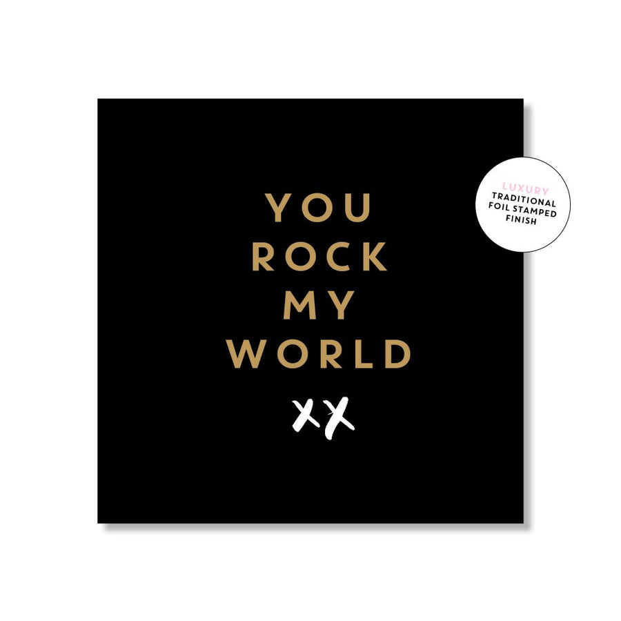 Just Smitten Mini Gift Card - You Rock My World