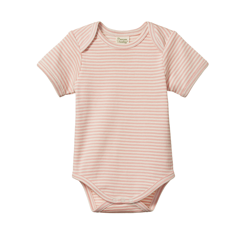 Nature Baby - Short Sleeve Body Suit - Lily Stripe