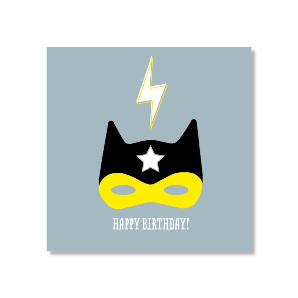 Just Smitten Mini Gift Card - Superhero Mask