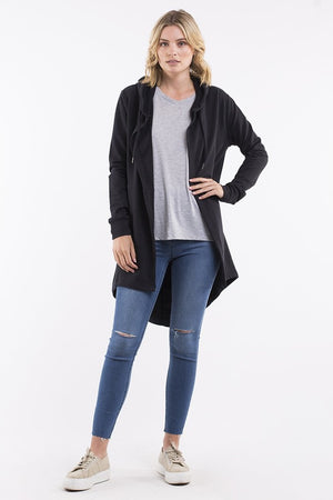 Silent Theory - Ashleigh Hooded Cardigan - Black