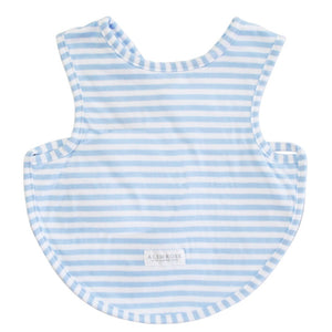 Alimrose - Bib Arm Holes Back Fastening Blue