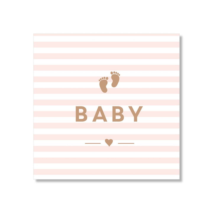 Just Smitten Mini Gift Card - Baby Pink Striped Feet
