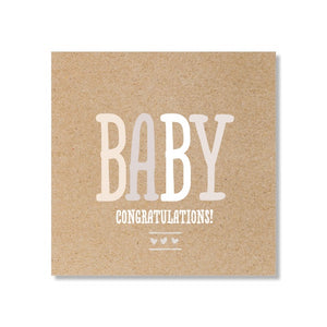 Just Smitten Mini Gift Card - Kraft Baby Congratulations