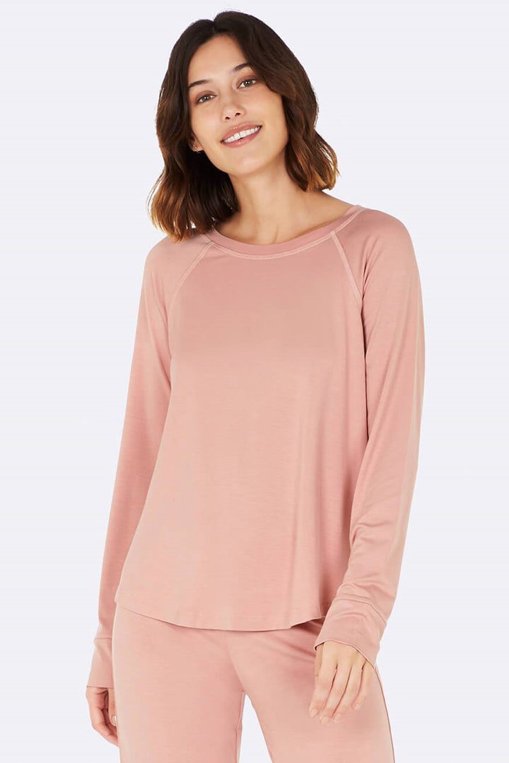Boody - Goodnight Raglan Sleep Top - Dusty Pink