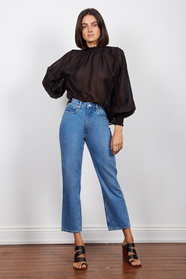 Wish - Intentions Shirred Blouse - Black