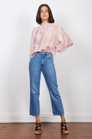 Wish - Intentions Shirred Blouse - Pink