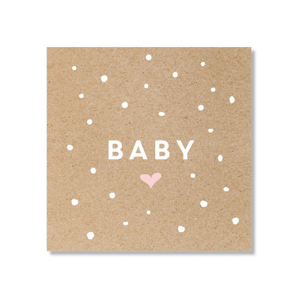 Just Smitten Mini Gift Card - Baby Confetti Pink