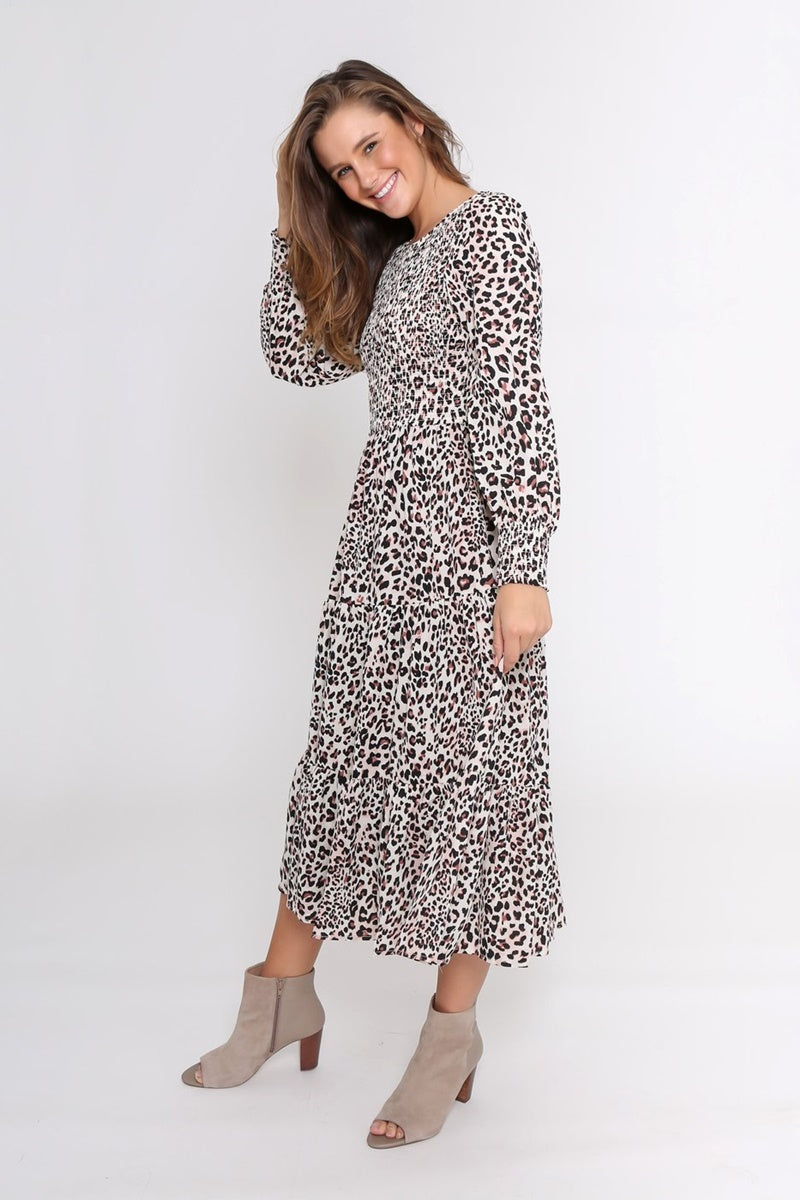 Leoni - Phoenix Dress - White Leopard