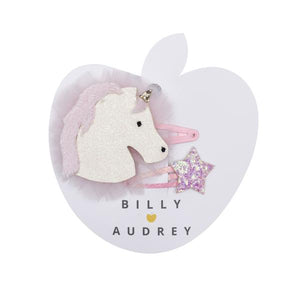 Billy Loves Audrey - Unicorn Faux Fur Clip Duo