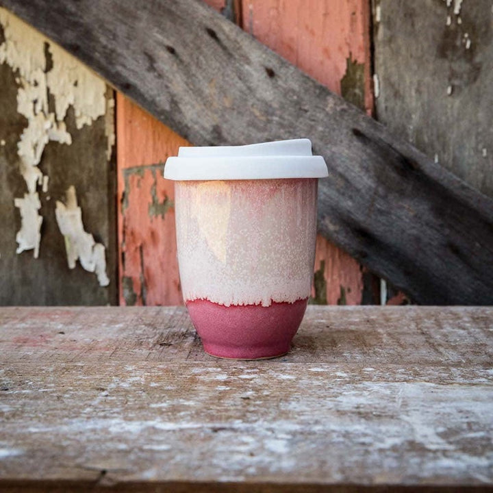 Pottery for the Planet - Medium 8oz Cup - Raspberry Beret
