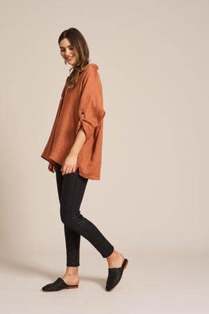 Eb & Ive - Jacinda Shirt - Terracotta