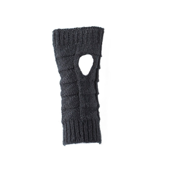 Antler - Knitted Fingerless Gloves - Black