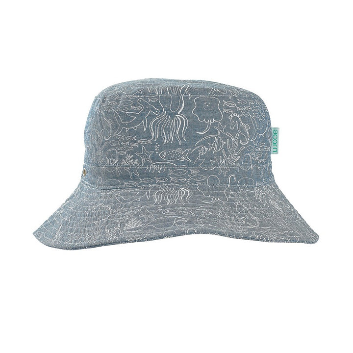 Acorn - Chambray Pirate Bucket Hat