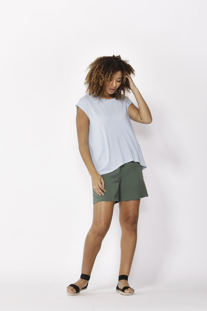 Betty Basics - Zadar Tee - Sky/White