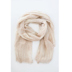Antler - Rippled Print Wool Rose Scarf