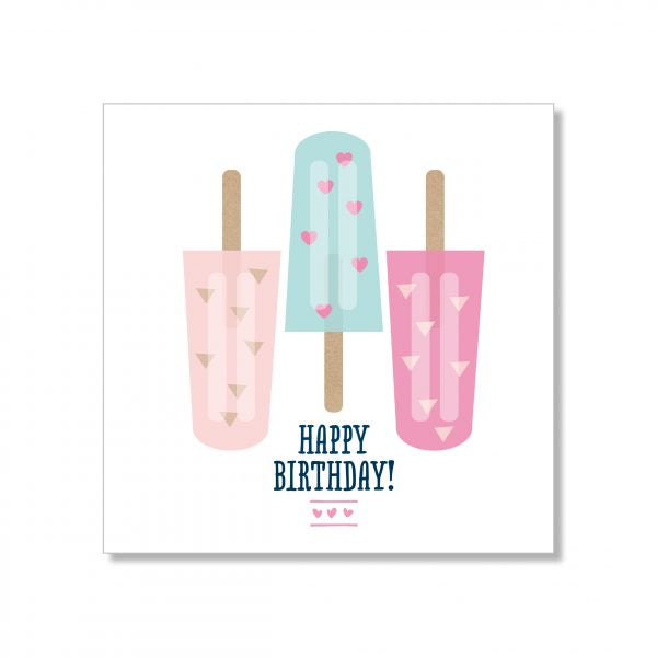 Just Smitten Mini Gift Card - Popsicle Birthday