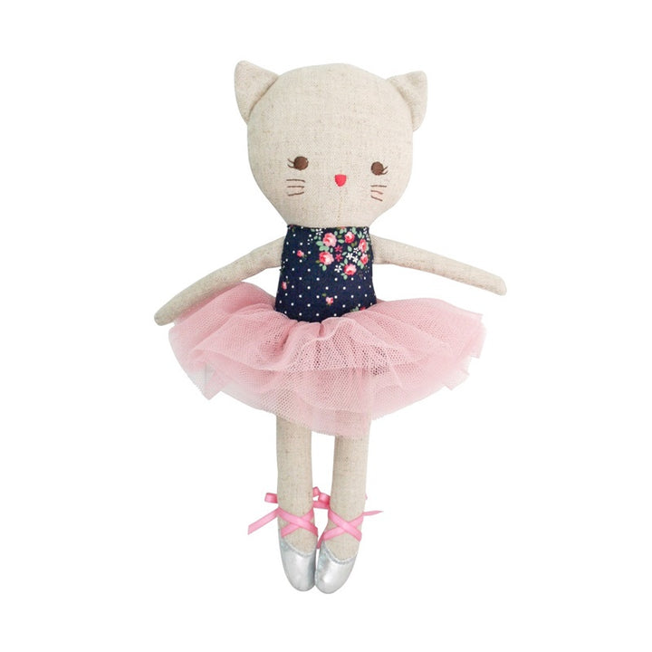 Alimrose - Odette Kitty Ballerina 25cm - Midnight Floral