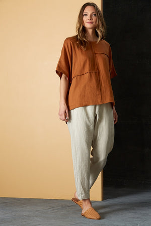 Eb & Ive - Bask Easy Top - Caramel