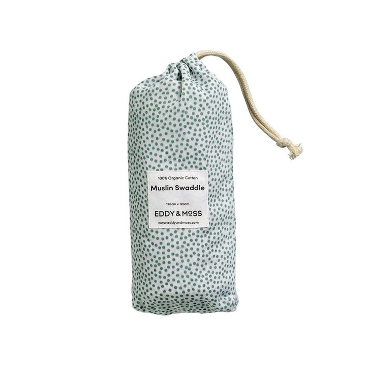 Eddy & Moss - Swaddle Wrap - Speckles Sea Foam