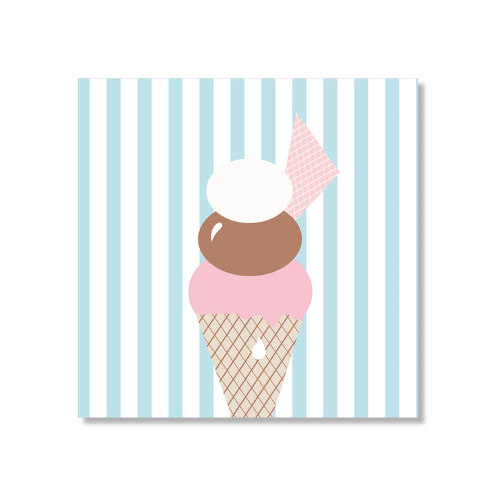 Just Smitten Mini Gift Card - Stripey Sundae