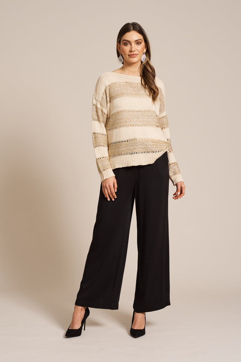 Eb & Ive - Coco Lurex Knit - Ivory