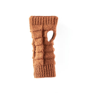 Antler - Knitted Fingerless Gloves - Rust