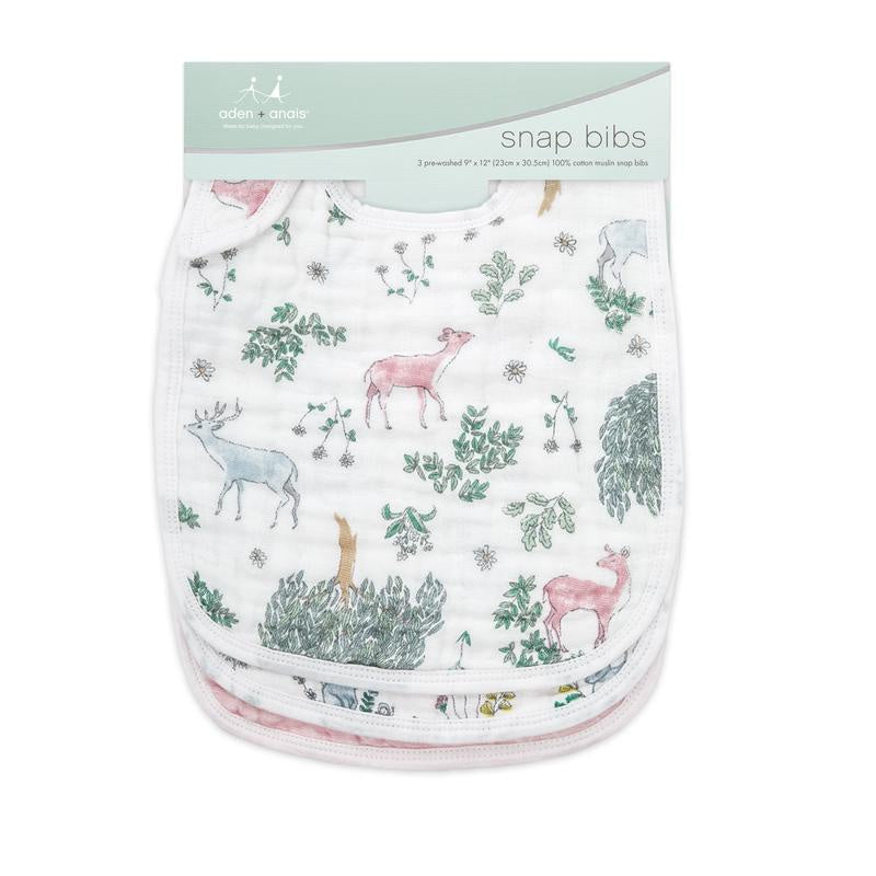 Aden & Anais - Snap Bibs (3 pack) - Forest Fantasy