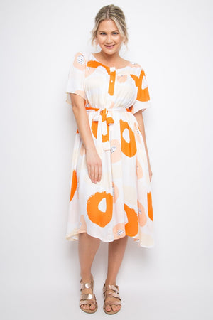 PQ Collection - Gathered Shirt Dress - Tutti Frutti