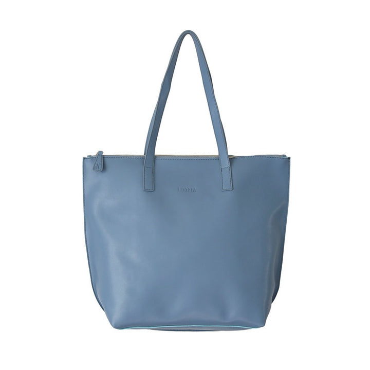 Hoopla - Large Zip Tote - Blue Grey