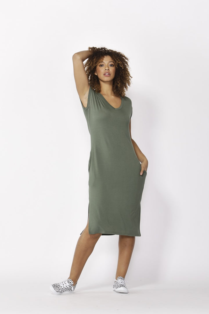 Betty Basics - Hvar Midi Dress  - Olive