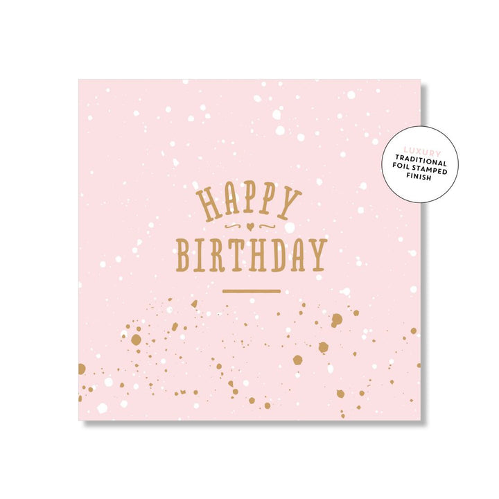 Just Smitten Mini Gift Card - Pretty Pink Birthday