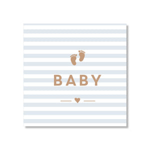 Just Smitten Mini Gift Card - Baby Blue Striped Feet
