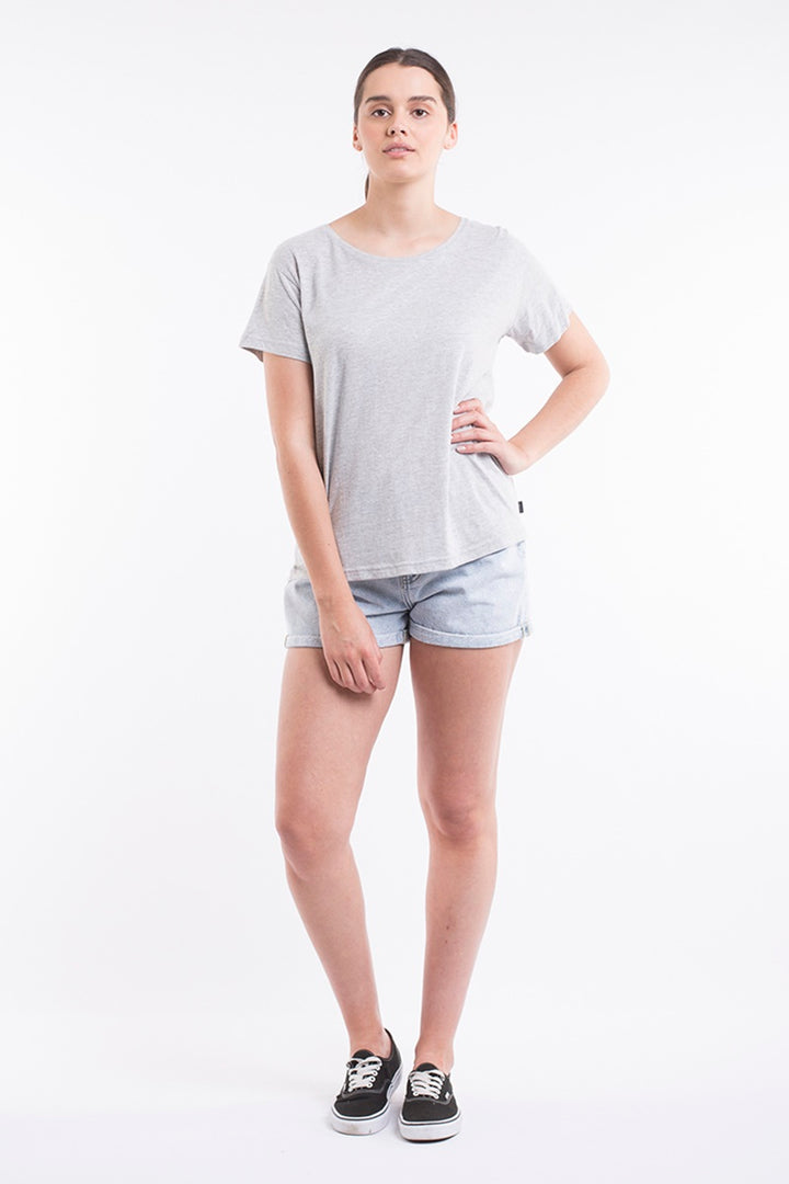 Silent Theory - Polly Tee - Grey Marle