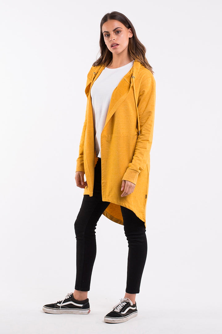 Silent Theory - Ashleigh Hooded Cardigan - Mustard