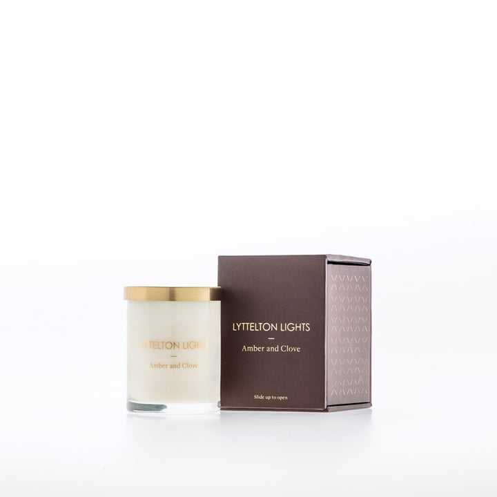 Lyttelton Lights Small Candle - Amber & Clove