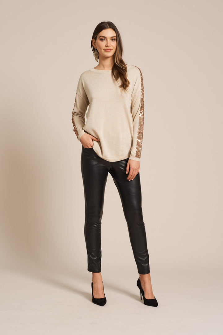 Eb & Ive - Coco Sequin Knit - Ivory