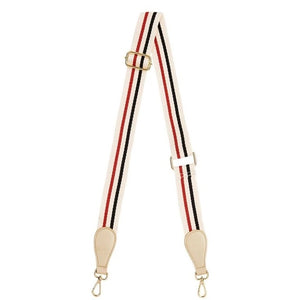 Elms + King - Accent Strap - Red Tri Colour w/ Light Gold Tab
