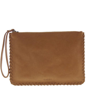 Gabee - Staten Soft Leather Whipstitch Wristlet