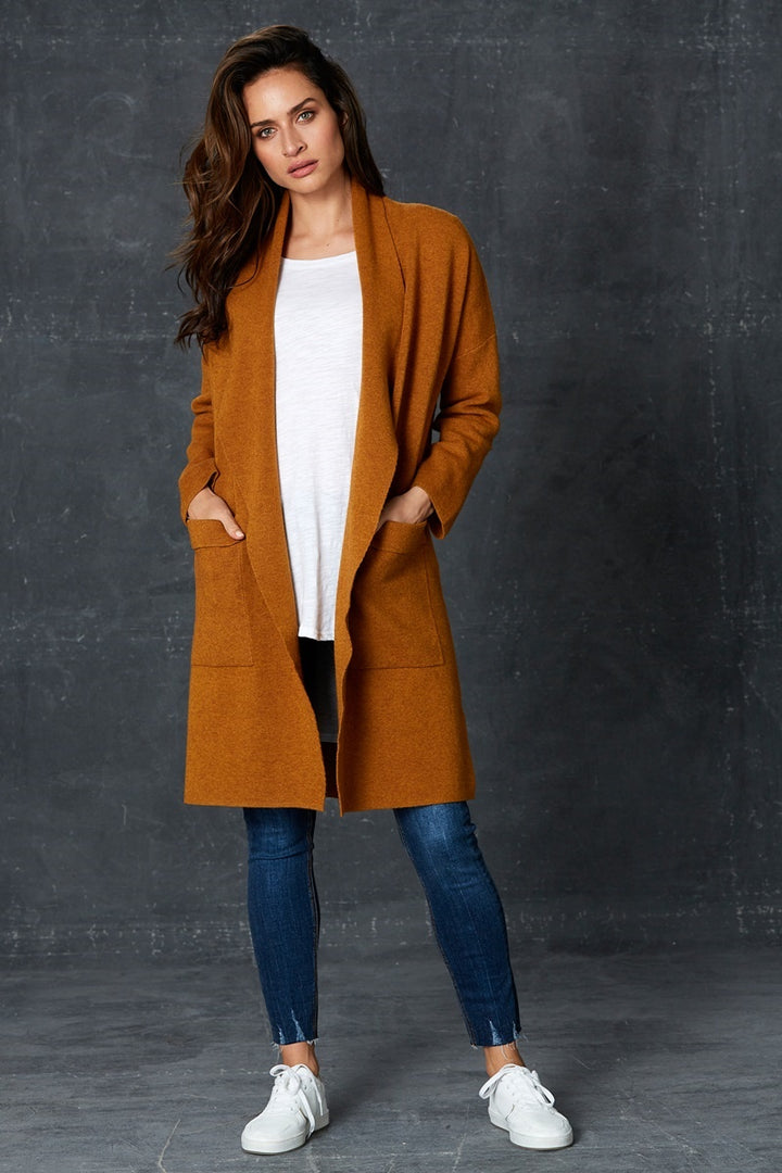 Eb & Ive - Mellow Cardigan - Amber