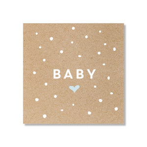 Just Smitten Mini Gift Card - Baby Confetti Blue