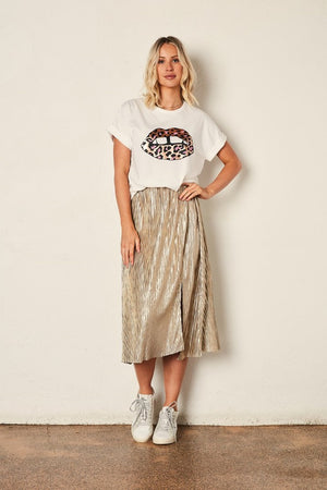 The Others - Relaxed Tee - White / Leopard Lips