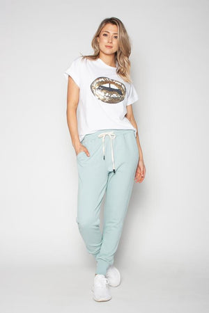 The Others - Relaxed Tee - White with Sequin Lips
