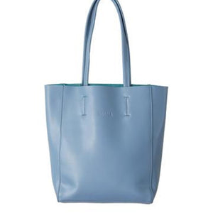 Hoopla - Large Portrait Tote - Blue Grey