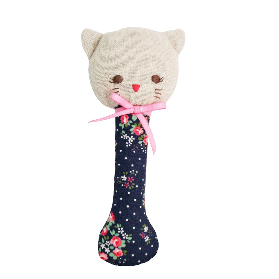 Alimrose - Kitty Stick Rattle - Midnight Floral