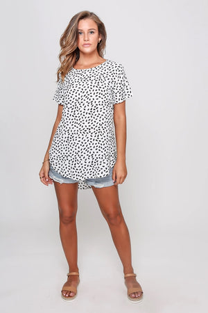 Leoni - Piper Top = White Leopard