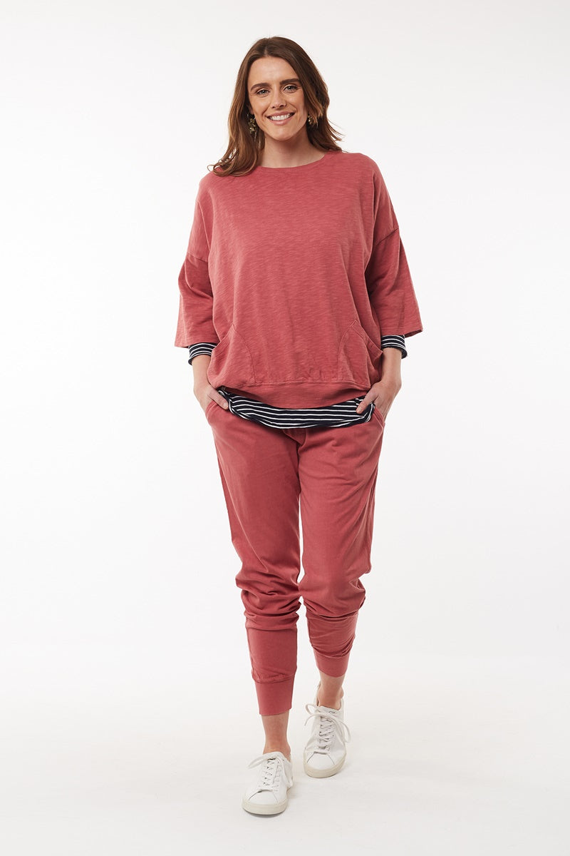 Elm - Wash Out Pant - Deep Rose